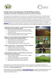 Background Information and Booking Form - North Wessex Downs ...