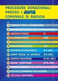 PROCEDURE DONAZIONALI PRESSO L ... - Avis Ragusa