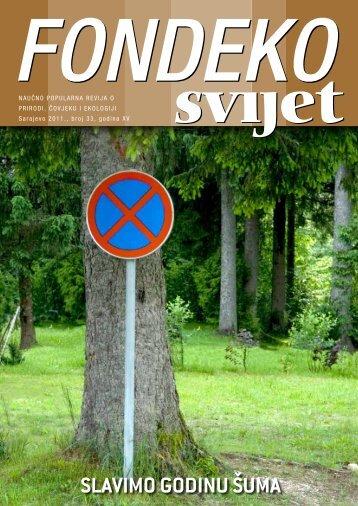 SLAVIMO GODINU ŠUMA - Federalno ministarstvo okoliša i turizma