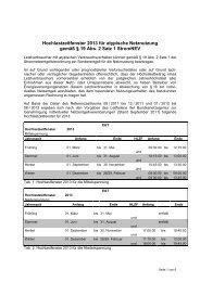 Hochlastzeitfenster NS und MS 2013 - EGT Energie
