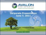 Corporate Presentation June 7, 2011 - Avalon Rare Metals