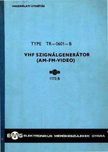 EMG 1173/B VHF SZIGNÁLGENERÁTOR (AM-FM-VIDEO)