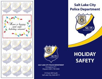 Holiday Safety Brochure - Salt Lake City Police Department