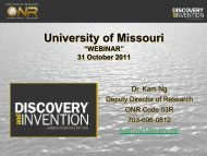 Presentation - Office of Research - University of Missouri