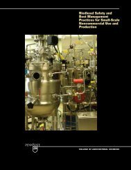 Biodiesel Safety and Best Management Practices for Small-Scale ...
