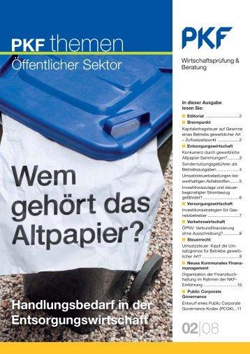 """Heft 2 06/2008 """"Wem gehört das Altpapier?"""" - PKF"""
