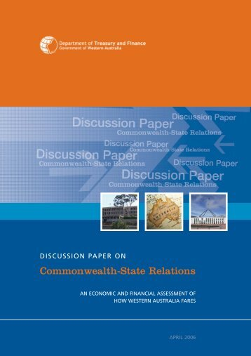 Discussion Paper on Commonwealth-State Relations - March 2006