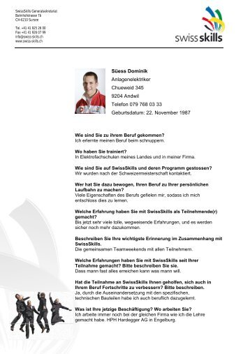 )Medienmitteilung zur freien Veröffentlichung - SwissSkills
