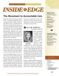 INSIDE EDGE - Advocate Health Care
