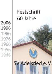 Festschrift 60 Jahre SVA - SV Adelsried