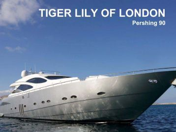 TIGER LILY OF LONDON - Paradise Yacht Charters