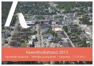 Kaavoituskatsaus 2013 - Hyvinkaan kaupunki