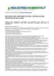 DECRETO DEL PRESIDENTE DEL CONSIGLIO DEI MINISTRI 08 ...