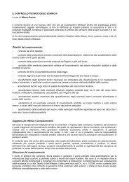 IL CONTROLLO TECNICO DEGLI SCARICHI a cura di: Mauro ...