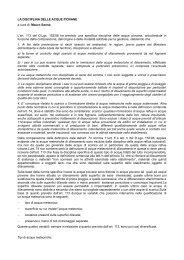 LA DISCIPLINA DELLE ACQUE PIOVANE a cura di: Mauro Sanna L ...