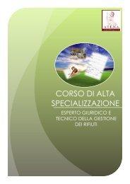CORSO DI ALTA SPECIALIZZAZIONE - IndustrieAmbiente.it
