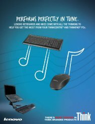 PERFORMS PERFECTLY IN TUNE. - Lenovo