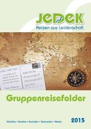 Jedek Reisen Gruppenreisen 2015