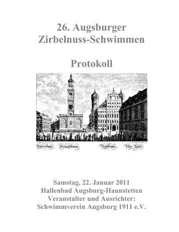 Protokoll - Schwimmverein Augsburg 1911 e. V.