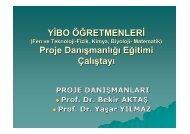 YİBO ÖĞRETMENLERİ Proje Danışmanlığı Eğitimi Çalıştayı