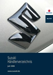 Suzuki Händlerverzeichnis Juli 2008