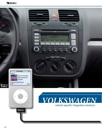 VOLKSWAGEN - iPhone car kit
