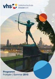 Programm Frühjahr | Sommer 2015