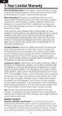 1-Year Limited Warranty - Esprit Model - Page 6