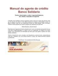 Manual do agente de crédito Banco Solidario - Center for Financial ...