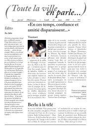le journal d'Itinérances du lundi 22 mars 2010