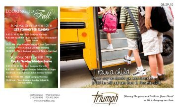 08.29.10 Bulletin - Triumph Lutheran Brethren Church