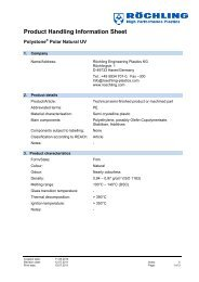 Product handling Polystone Polar Natural-UV - Röchling ...