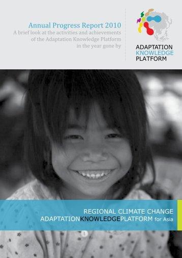 Annual Progress Report 2010 - Regional Climate Change ...