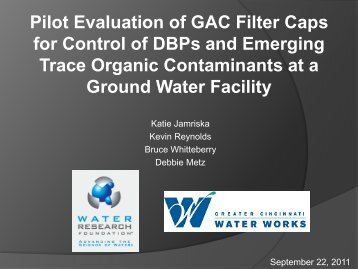 Precursor Removal from Ground Water Using GAC ... - Ohiowater.org