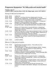 "Programme Symposium ""N-3 fatty acids and mental health"""