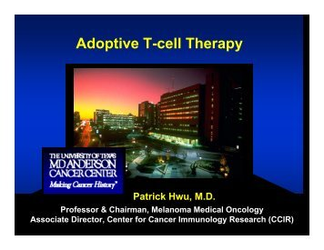 Adoptive T-cell Therapy - Society for Immunotherapy of Cancer