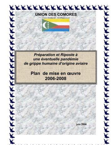 Plan de mise en œuvre 2006-2008