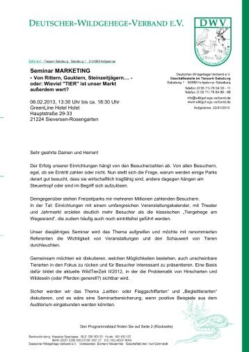 Download Seminarprogramm - Deutscher-Wildgehege-Verband eV