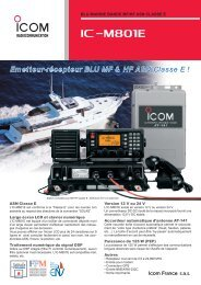 Documentation commerciale IC-M801E - Icom France