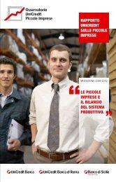 Rapporto Unicredit sulle piccole imprese le piccole imprese e il