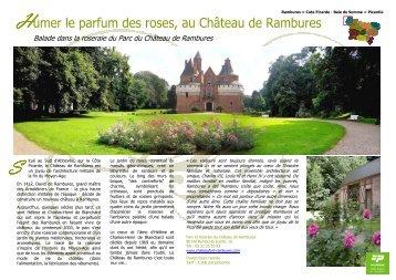 Humer le parfum des roses, au  Château de Rambures