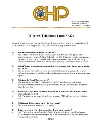 Cell Phone Law FAQs