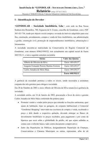 GONDOLAR – Sociedade Imobiliária, Lda. - Nuno Oliveira da Silva