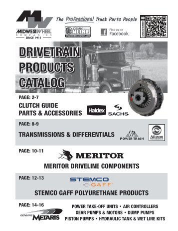 Drivetrain Products Catalog 01/09/2013 - Midwest Wheel Companies