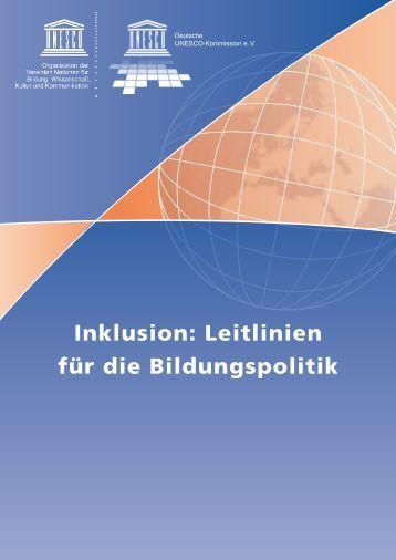 Inklusion: Leitlinien für die Bildungspolitik