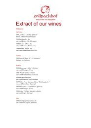 Extract of our wines - Zollpackhof