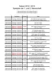 Spielplan 2012-2013 1. und 2. Mannschaft - SV Kleinochsenfurt