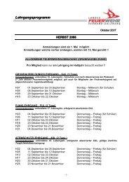 Lehrgangsprogramm - FF Anif
