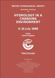hydrology in a changing environment - Centre for Ecology and ...
