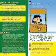 Lo sportello di ascolto per i dipendenti del Comune di Modena